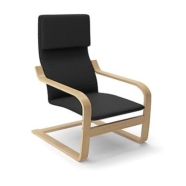 CorLiving™ Aquios Fabric High Back Armchair, Midnight Black