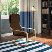 CorLiving™ Aquios Fabric High Back Armchair, Dark Coffee