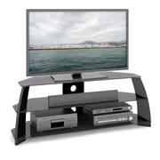 Corliving Tap-509-T Taylor TV Stand With Glass Shelves, Glossy Black