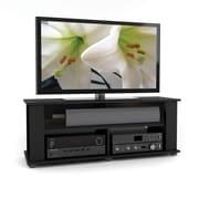 Corliving Tbf-604-B Bakersfield TV/Component Stand, Ravenwood Black