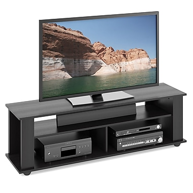 Corliving Tbf-605-B Bakersfield TV/Component Stand, Ravenwood Black