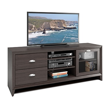 Corliving Tek-575-B Kansas TV Bench, Modern Wenge Finish