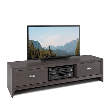 Corliving Tlk-871-B Lakewood TV Bench, Modern Wenge Finish