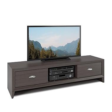 Corliving - Banc de téléviseur Tlk-871-B Lakewood, fini wenge moderne