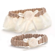HBH™ Rustic Country Satin Garter Set, Ivory