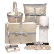 HBH™ Metallic Sparkle Collection Wedding Accessories Set, Gold Metallic