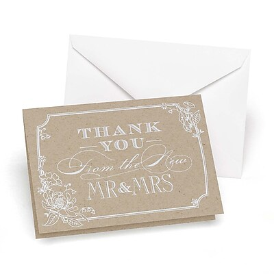HBH Thank You Wedding Note Card, Country Blossom, 50/Pack 1029585