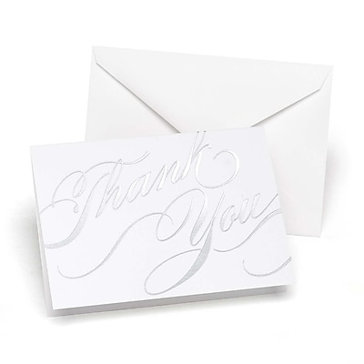 HBH™ Unending Gratitude Thank You Wedding Note Card, Silver, 50/Pack
