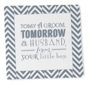 "HBH™ 14"" x 14"" Today a Groom Hanky, White"