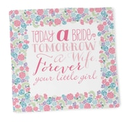 "HBH™ 14"" x 14"" Today a Bride Hanky, White"