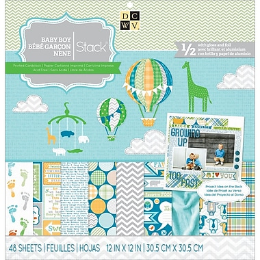 Diecuts With A View® Baby Boy 3 Paper Stack, 12