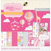"""Diecuts With A View® Baby Girl 3 Paper Stack, 12"""" x 12"""", 48 Sheets"""