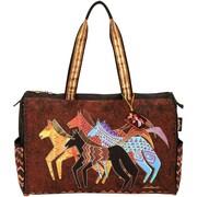Laurel Burch® Travel Bag With Zipper Top, Native Horses
