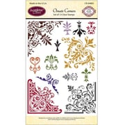 "Justrite® Papercraft 4"" x 6"" Clear Stamp Set, Ornate Corners"
