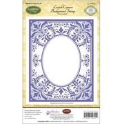 "Justrite® Papercraft 4 1/2"" x 5 3/4"" Background Cling Stamp, Lavish Corners"