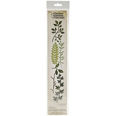 Sizzix® Sizzlits Tim Holtz Spring Greenery Decorative Strip Die, 2.375