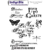 """IndigoBlu 6 1/2"""" x 9"""" Cling Mounted A5 Stamp, Discover Your Passion"""