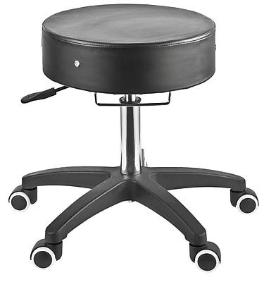 Master Massage® The Glider™ Adjustable Rolling Stool, Black