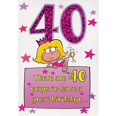 Greeting Cards, Birthday, Age 40, Humorous, 18/Pack