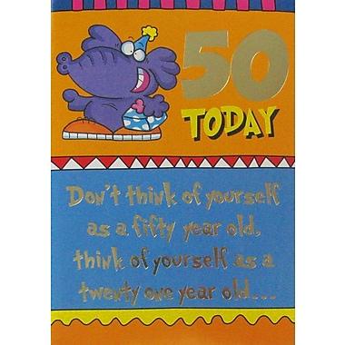 Cartes de souhaits, Anniversaire, 50 ans, humour, 18/paquet