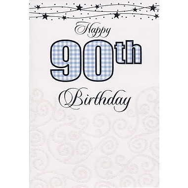 Greeting Cards, Birthday, Age 90, 18/Pack