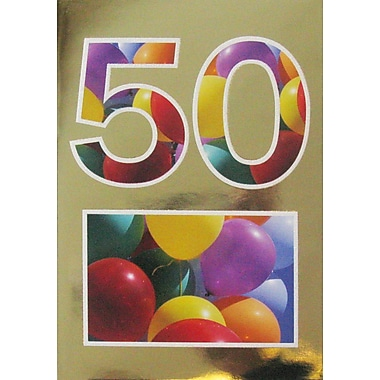 Greeting Cards, Birthday, Age 50, 18/Pack
