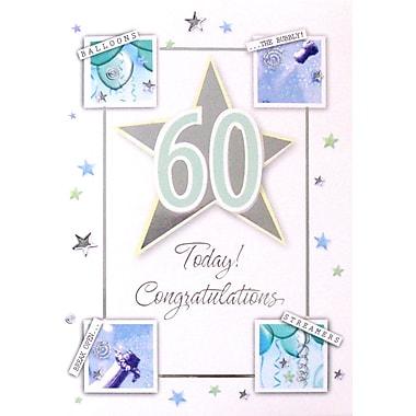 A-Line – Cartes de souhaits, Anniversaire, 60 ans, 18/paquet