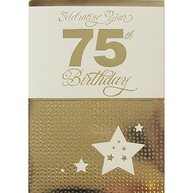 Greeting Cards, Birthday, Age 75, 18/Pack