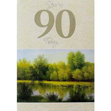 Greeting Cards, Birthday, Age 90, Nature, 18/Pack