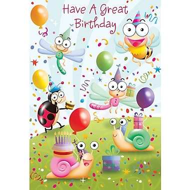 Greeting Cards, Have a Great Birthday, Bug Party, 18/Pack