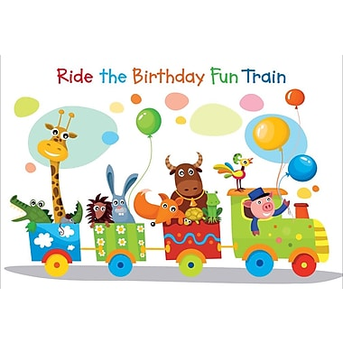Greeting Cards, Ride the Birthday Fun Train, 18/Pack