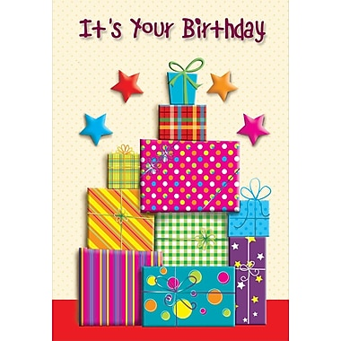 A-Line – Cartes de souhaits, « It's Your Birthday », cadeaux, 18/paquet