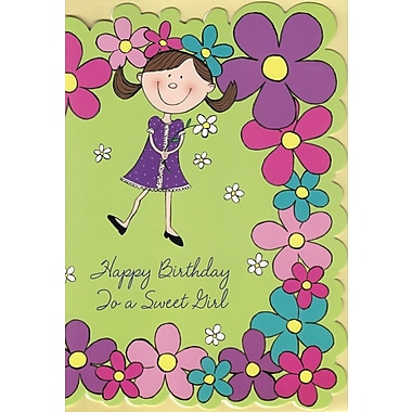 Greeting Cards, Happy Birthday To a Sweet Girl, 18/Pack