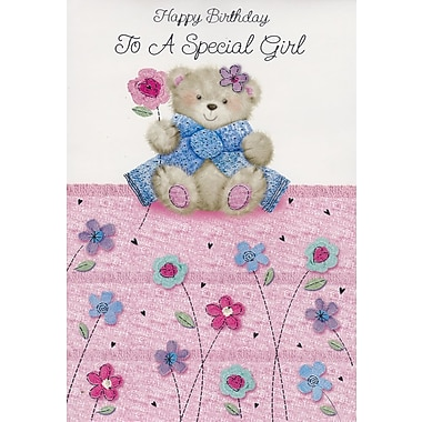 A-Line – Cartes de souhaits, « Happy Birthday To a Special Girl », 18/paquet