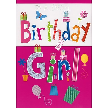 A-Line – Cartes de souhaits, « To a Special Birthday Girl », 18/paquet