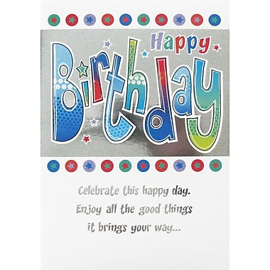A-Line – Cartes de souhaits, « Happy Birthday », 18/paquet