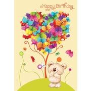Cartes de souhaits, « Joyeux anniversaire », papillons, paquet de 18