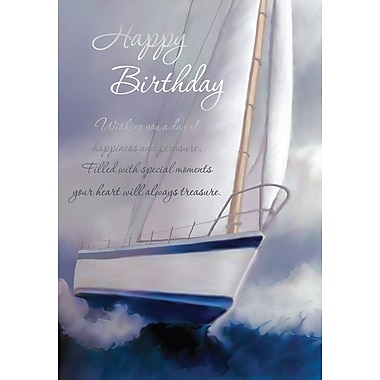 A-Line – Cartes de souhaits, « Happy Birthday », yacht, 18/paquet
