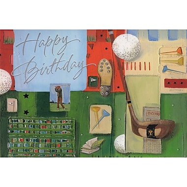 Greeting Cards, Happy Birthday, Golf, 18/Pack