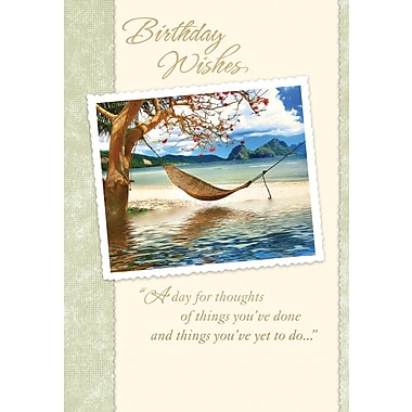 Greeting Cards, Birthday Wishes, Hammock, 18/Pack