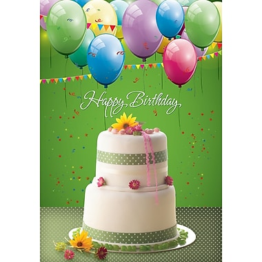 Greeting Cards, Happy Birthday, Green, 18/Pack