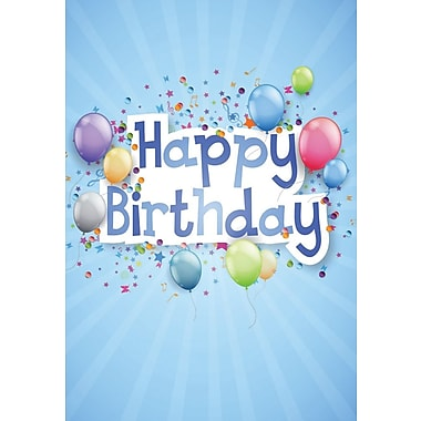 Greeting Cards, Happy Birthday, Blue, 18/Pack