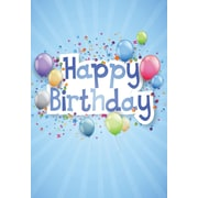 Cartes de souhaits, Joyeux anniversaire, bleu, 18/pqt