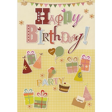 Greeting Cards, Happy Birthday, Party Theme, 18/Pack