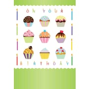Greeting Cards, On Your Birthday, Cupcakes,18/Pack
