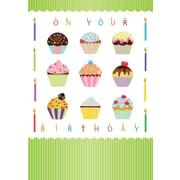 Cartes de souhaits, À l'occasion de votre anniversaire, petits gâteaux, 18/pqt
