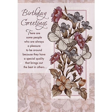 Greeting Cards, Birthday Greetings, 18/Pack