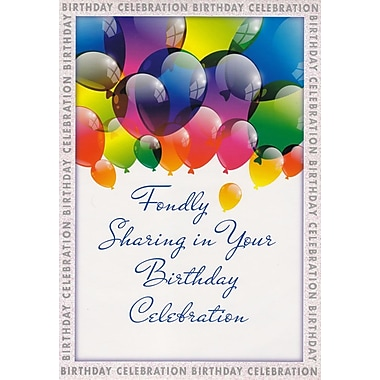 Greeting Cards, Fondly Sharing in Your Birthday Celebration, 18/Pack