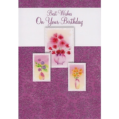 Cartes de souhaits, « Best Wishes On Your Birthday », 18/paquet