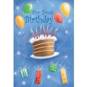 Cartes de souhaits, « For Your Birthday », gâteau, 18/paquet